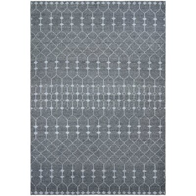 Webb Hand-Knotted Gray Area Rug Rug Size: Rectangle 35 x 55