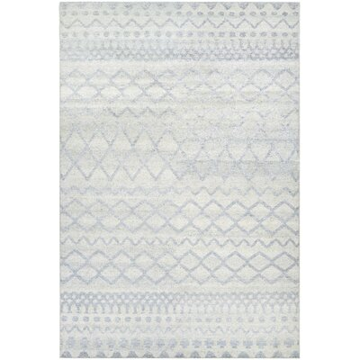 Webb Hand-Knotted Pewter Area Rug Rug Size: 35 x 55