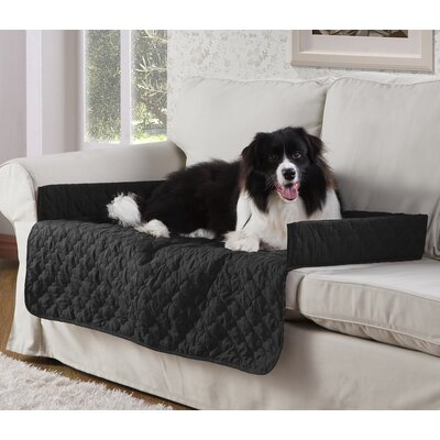 Weymouth Pet Chair Slipcover Color: Black/Silver, Size: Large