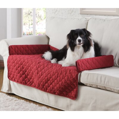 Weymouth Pet Chair Slipcover Color: Garnet/Natural, Size: Small