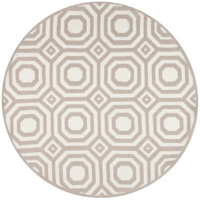 Murray Hand-Tufted�Gray Area Rug Rug Size: Round 4 x 4