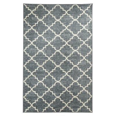 Orwin Fancy Trellis Gray/White Area Rug Rug Size: 76 x 10