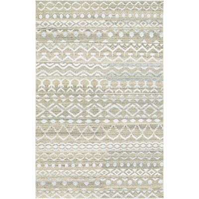 Cargile Hand-Knotted Natural/Beige Area Rug Rug Size: Rectangle 35 x 55