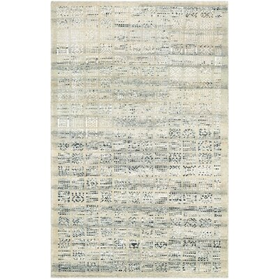 Cargile Hand-Knotted Natural/Black Area Rug Rug Size: Rectangle 56 x 8