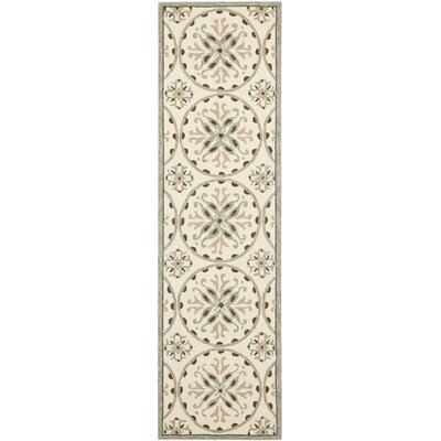 Carvalho Green/Brown Outdoor Area Rug Rug Size: Runner 23 x 8