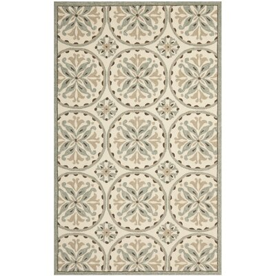 Carvalho Green/Brown Outdoor Area Rug Rug Size: 4 x 6