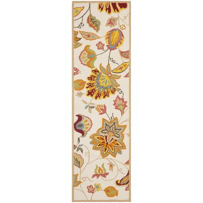 Carvalho Ivory/Yellow Indoor/Outdoor Area Rug Rug Size: Runner 2 x 6