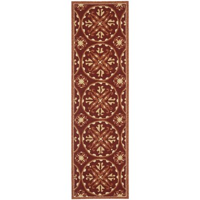 Carvalho Red/Orange Outdoor Area Rug Rug Size: Runner 23 x 8