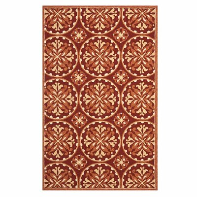 Carvalho Red/Orange Outdoor Area Rug Rug Size: 24 x 4