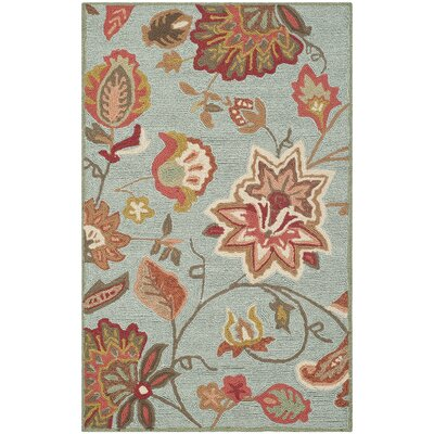 Carvalho Hand-Hooked Beige/Orange/Green Indoor/Outdoor Area Rug Rug Size: Rectangle 23 x 39