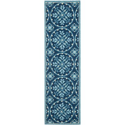 Carvalho Blue Indoor/Outdoor Area Rug Rug Size: Runner 23 x 8