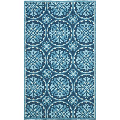 Carvalho Blue Indoor/Outdoor Area Rug Rug Size: 23 x 39