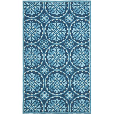 Carvalho Blue Indoor/Outdoor Area Rug Rug Size: 4' x 6'