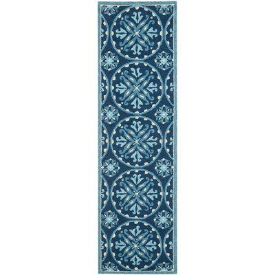 Carvalho Blue Indoor/Outdoor Area Rug Rug Size: Runner 110 x 5