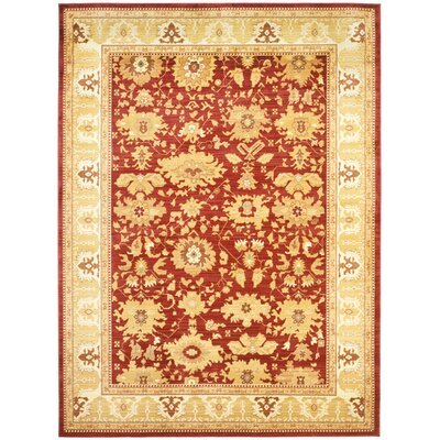 Christensen Red/Gold Rug Rug Size: 6'7