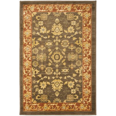 Christensen Brown/Red Rug Rug Size: 5'3