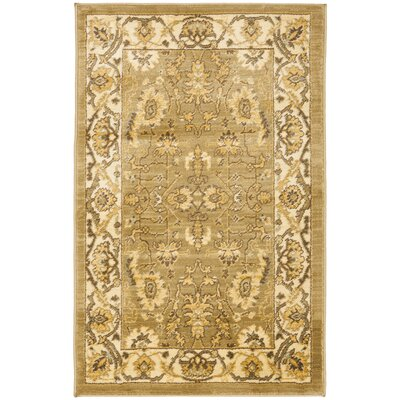 Christensen Green/Cr�me Rug Rug Size: 26 x 4