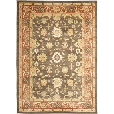 Christensen Brown/Rust Rug Rug Size: 53 x 76