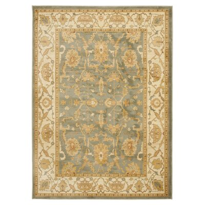 Christensen Blue/Cream Area Rug Rug Size: 67 x 91