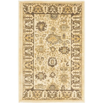 Christensen Cr�me/Brown Rug Rug Size: 26 x 4