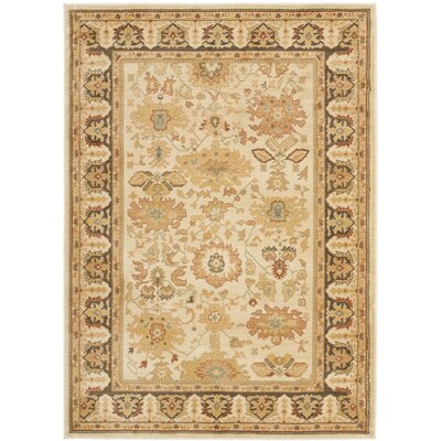 Christensen Cr�me/Brown Rug Rug Size: 67 x 91