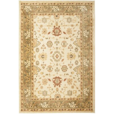 Christensen Creme Floral Area Rug Rug Size: Rectangle 26 x 4