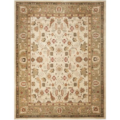 Christensen Cream/Green Floral Area Rug