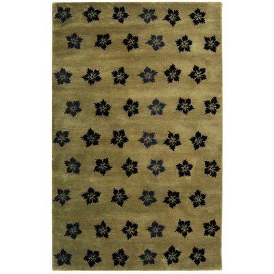 Alvan Sage/Black Area Rug Rug Size: 6 x 9