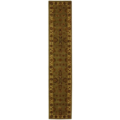 Cranmore Green/Gold Area Rug Rug Size: Runner 23 x 12