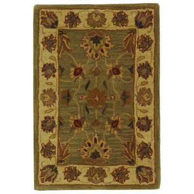 Cranmore Green/Gold Area Rug Rug Size: 2 x 3