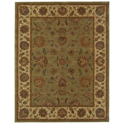 Cranmore Green/Gold Area Rug Rug Size: 96 x 136