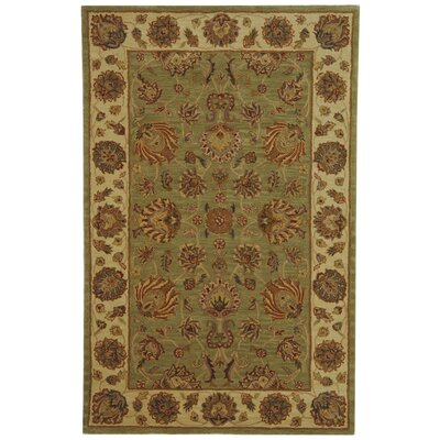 Cranmore Green/Gold Area Rug Rug Size: 5 x 8