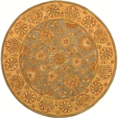 Cranmore Yellow Area Rug Rug Size: Round 36