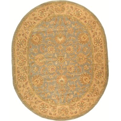 Cranmore Yellow Area Rug Rug Size: Oval 46 x 66