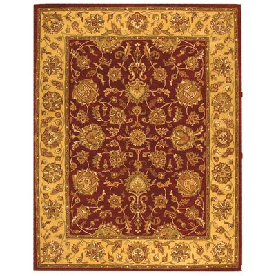 Cranmore Hand-Tufted Wool Red/Gold  Area Rug Rug Size: Rectangle 76 x 96