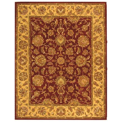 Cranmore Red/Gold Floral Area Rug Rug Size: 96 x 136