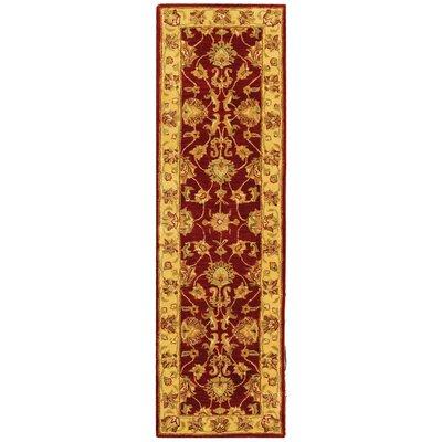 Cranmore Red/Gold Floral Area Rug Rug Size: Runner 2'3
