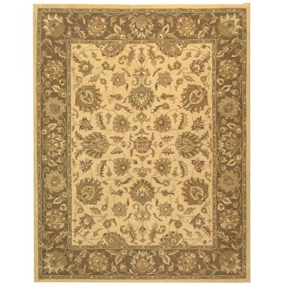 Cranmore Ivory/Brown Area Rug Rug Size: Rectangle 76 x 96