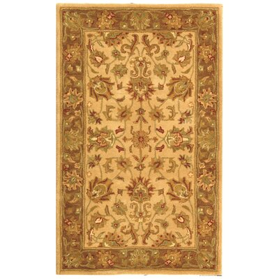 Cranmore Ivory/Brown Area Rug Rug Size: Rectangle 4 x 6