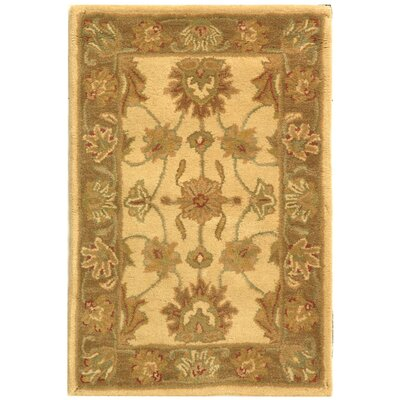Cranmore Ivory/Brown Area Rug Rug Size: Rectangle 2 x 3