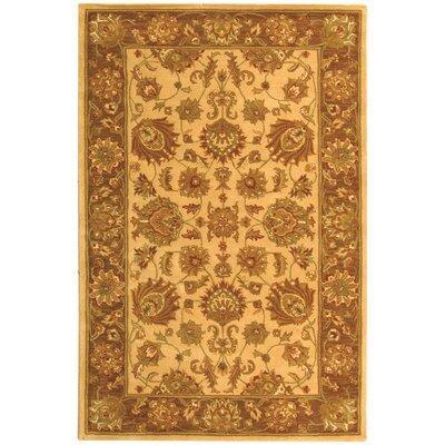 Cranmore Ivory/Brown Area Rug Rug Size: Rectangle 6 x 9