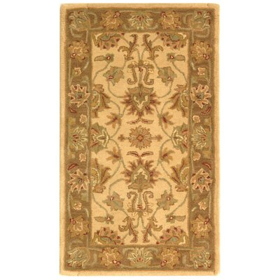 Cranmore Ivory/Brown Area Rug Rug Size: 23 x 4