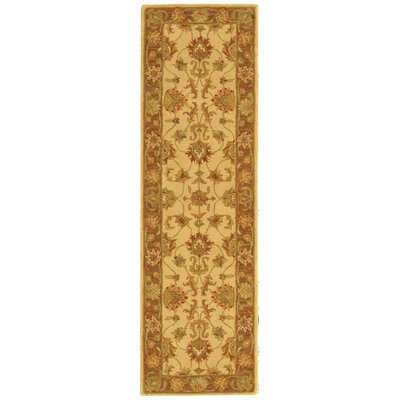 Cranmore Ivory/Brown Area Rug Rug Size: Runner 23 x 14