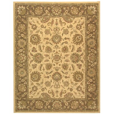 Cranmore Ivory/Brown Area Rug Rug Size: 76 x 96