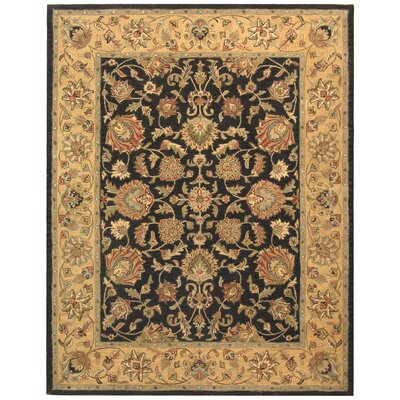 Cranmore Charcoal/Gold Area Rug Rug Size: Rectangle 76 x 96