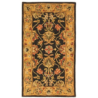 Cranmore Charcoal/Gold Area Rug Rug Size: 3 x 5