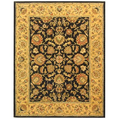 Cranmore Charcoal/Gold Area Rug Rug Size: 96 x 136