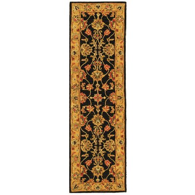 Cranmore Charcoal/Gold Area Rug Rug Size: Runner 23 x 8
