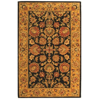 Cranmore Charcoal/Gold Area Rug Rug Size: 4 x 6