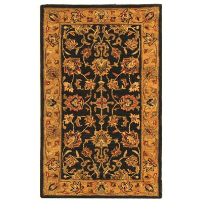 Cranmore Charcoal/Gold Area Rug Rug Size: 5 x 8